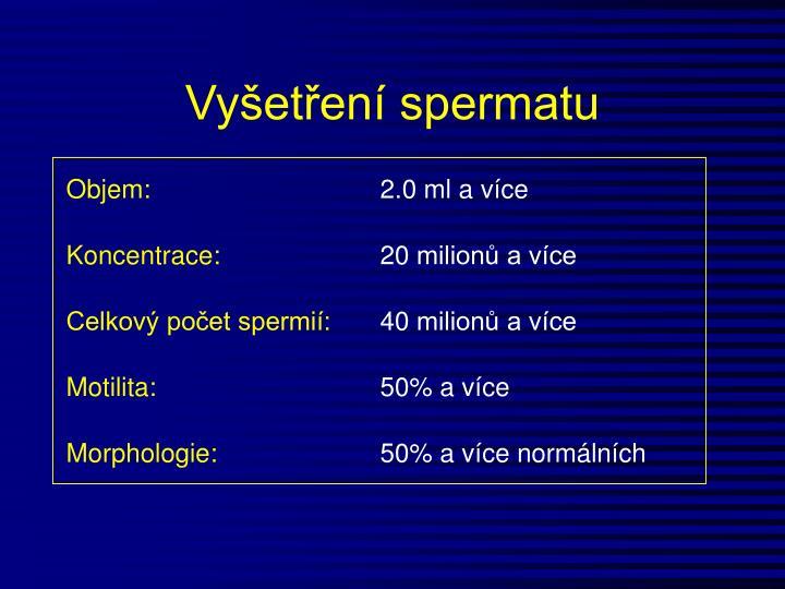 Vyšetření spermatu
