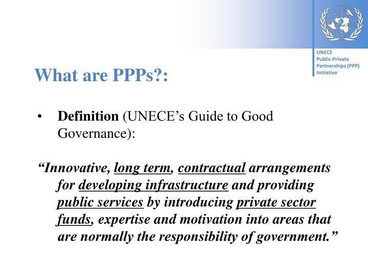 What are PPPs?: