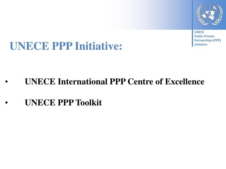 UNECE PPP Initiative: