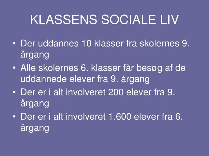 KLASSENS SOCIALE LIV