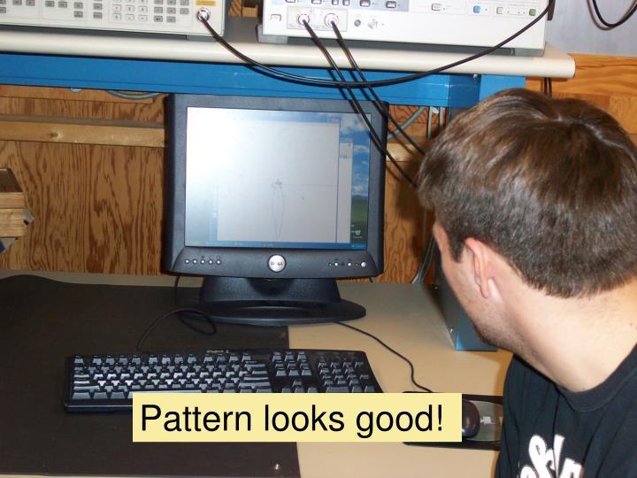 Pattern looks good!