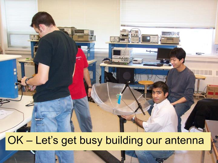 OK – Let's get busy building our antenna