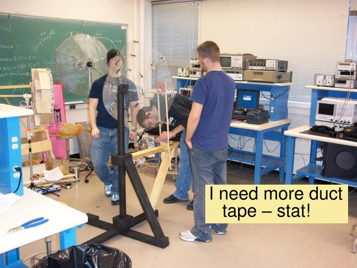 I need more duct tape – stat!