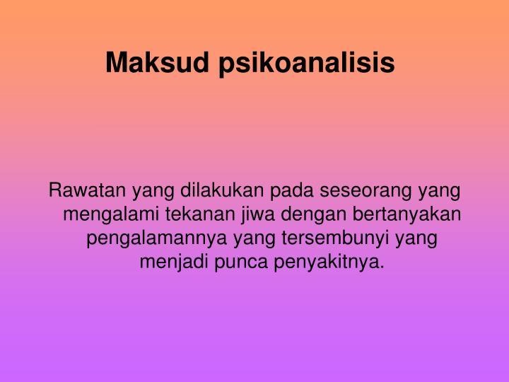 Maksud psikoanalisis