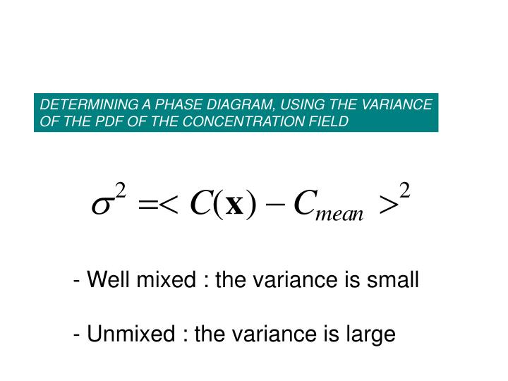 DETERMINING A PHASE DIAGRAM, USING THE VARIANCE