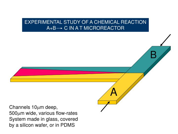 EXPERIMENTAL STUDY OF A CHEMICAL REACTION