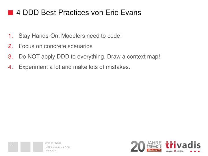 4 DDD Best Practices von Eric Evans