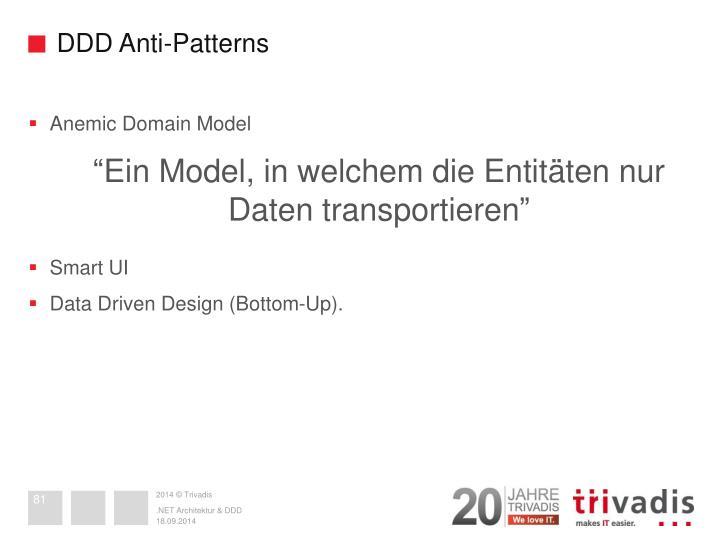 DDD Anti-Patterns