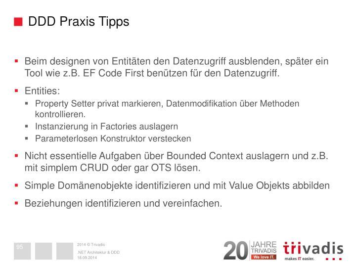 DDD Praxis Tipps