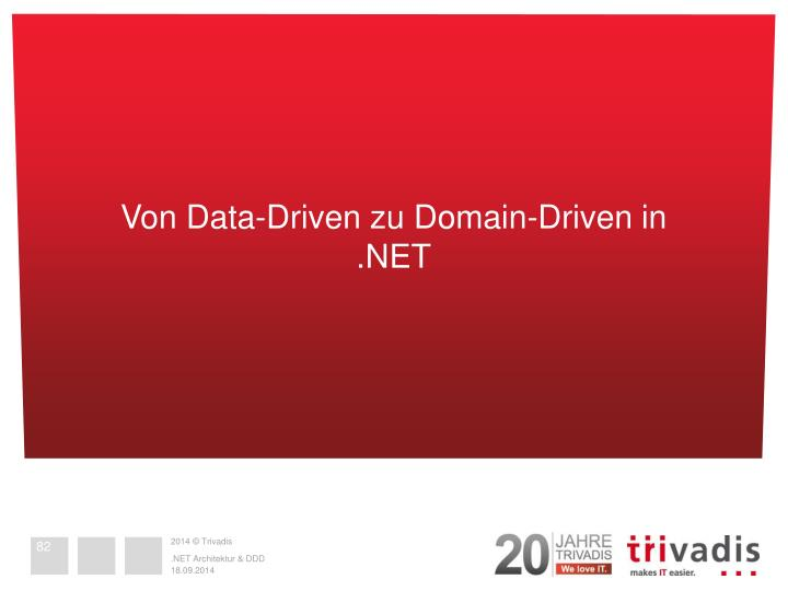 Von Data-Driven zu Domain-Driven in .NET