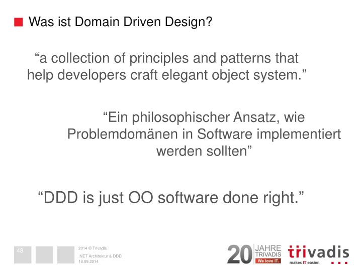 Was ist Domain Driven Design?