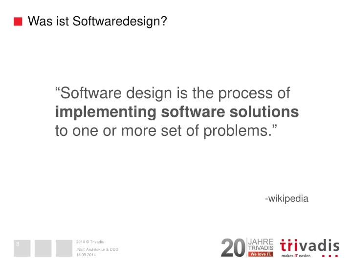 Was ist Softwaredesign?