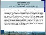 droit syndical ds d signation cass soc 22 septembre 2010 n 09 60 435