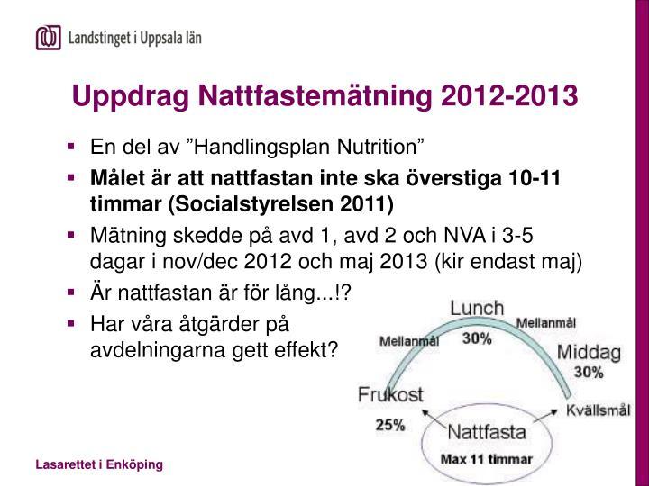 Uppdrag Nattfastemätning 2012-2013