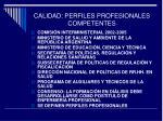 calidad perfiles profesionales competentes