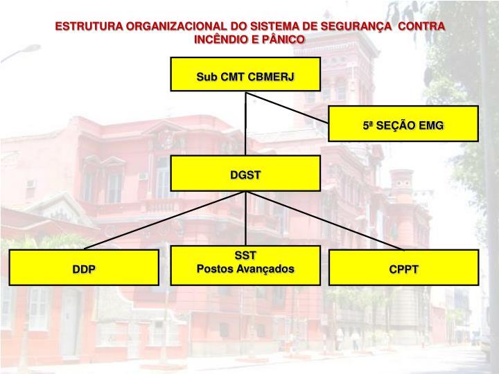 ESTRUTURA ORGANIZACIONAL DO SISTEMA DE SEGURANÇA  CONTRA INCÊNDIO E PÂNICO