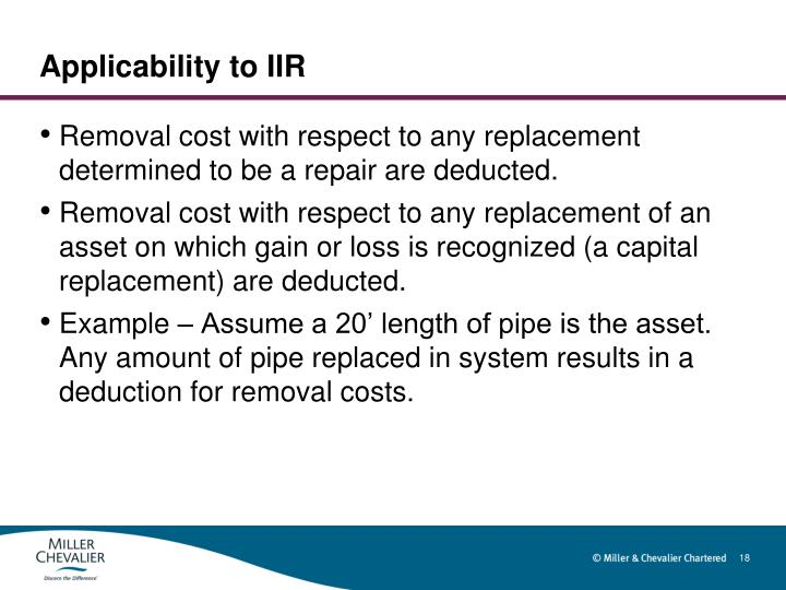 Applicability to IIR