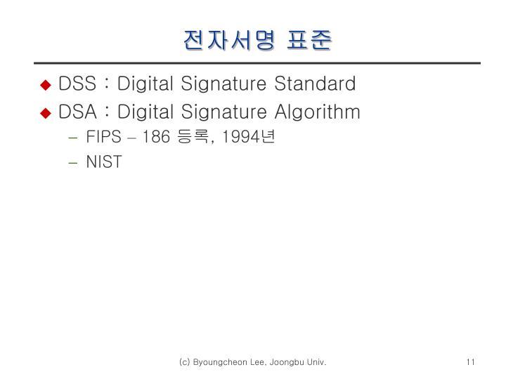 전자서명 표준