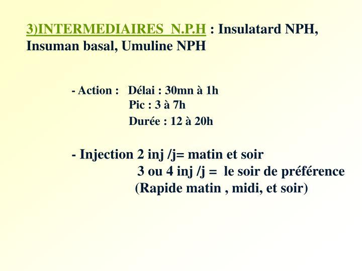 3)INTERMEDIAIRES  N.P.H