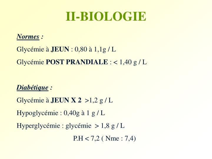 II-BIOLOGIE