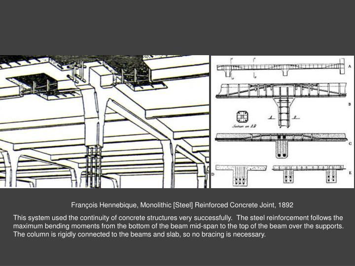 François Hennebique, Monolithic [Steel] Reinforced Concrete Joint, 1892