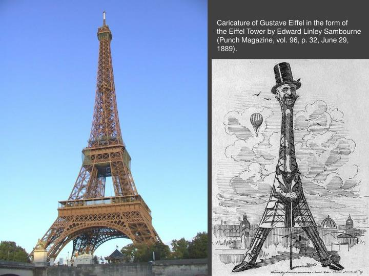 Caricature of Gustave Eiffel in the form of