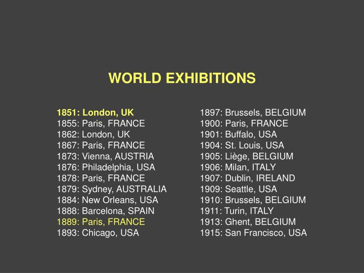 WORLD EXHIBITIONS