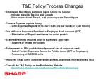 t e policy process changes