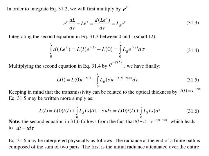 In order to integrate Eq. 31.2, we will first multiply by