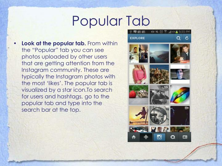 Popular Tab