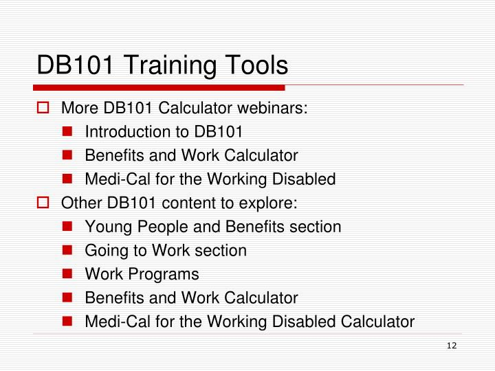 DB101 Training Tools