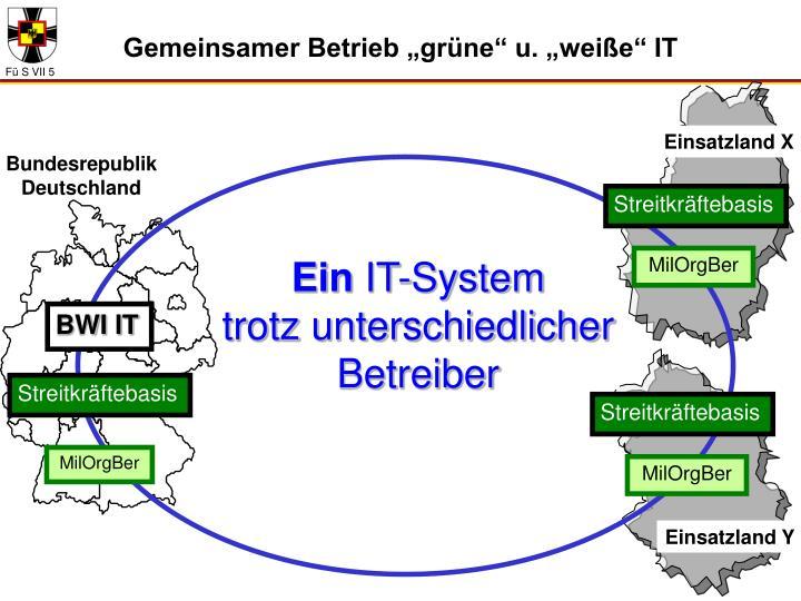 """Gemeinsamer Betrieb """"grüne"""" u. """"weiße"""" IT"""