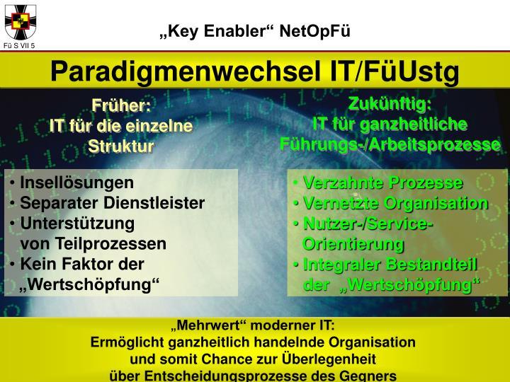 """""""Key Enabler"""" NetOpFü"""