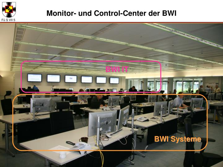Monitor- und Control-Center der BWI