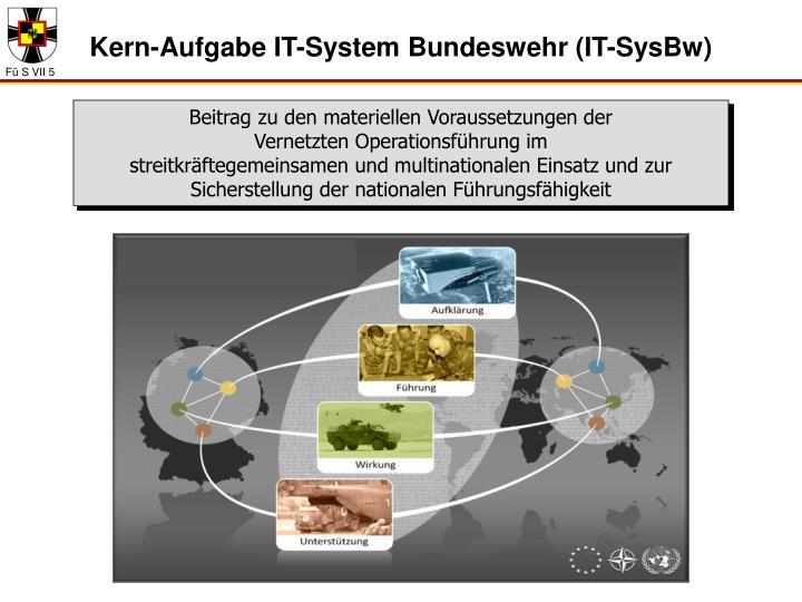 Kern-Aufgabe IT-System Bundeswehr (IT-SysBw)
