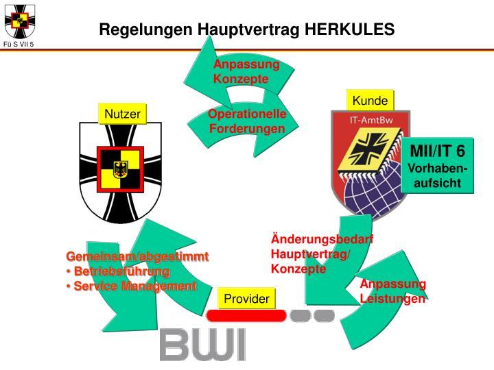 Regelungen Hauptvertrag HERKULES