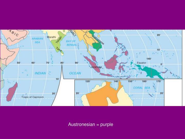 Austronesian = purple
