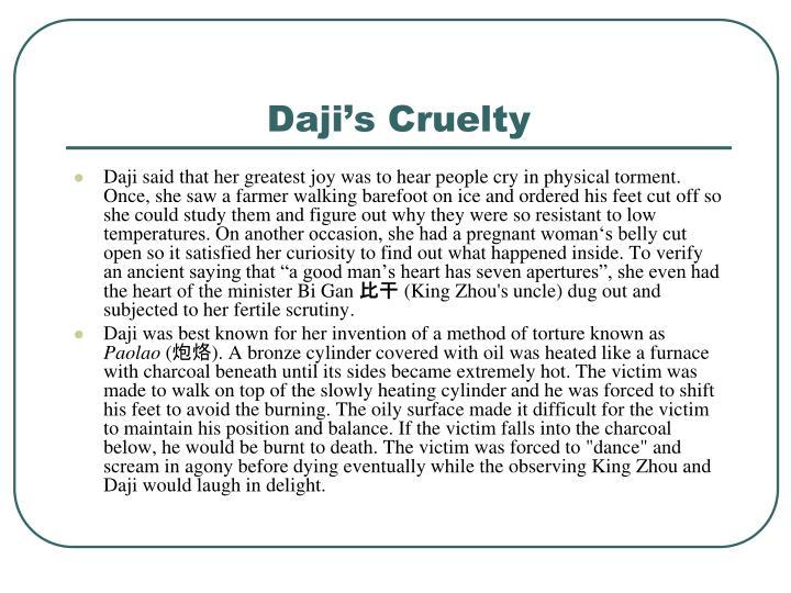 Daji's Cruelty