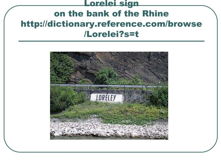 Lorelei sign