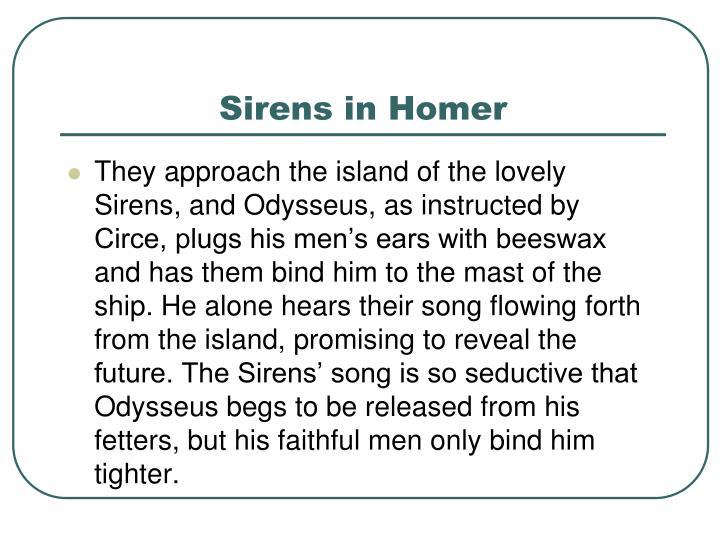 Sirens in Homer