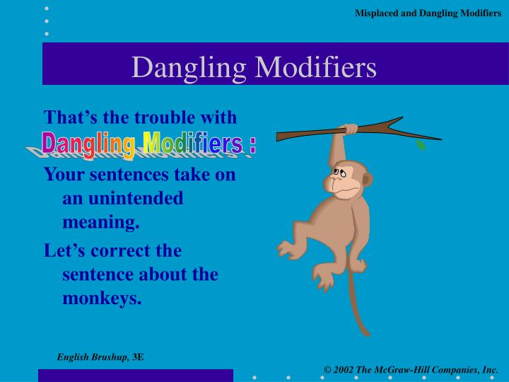 Dangling Modifiers