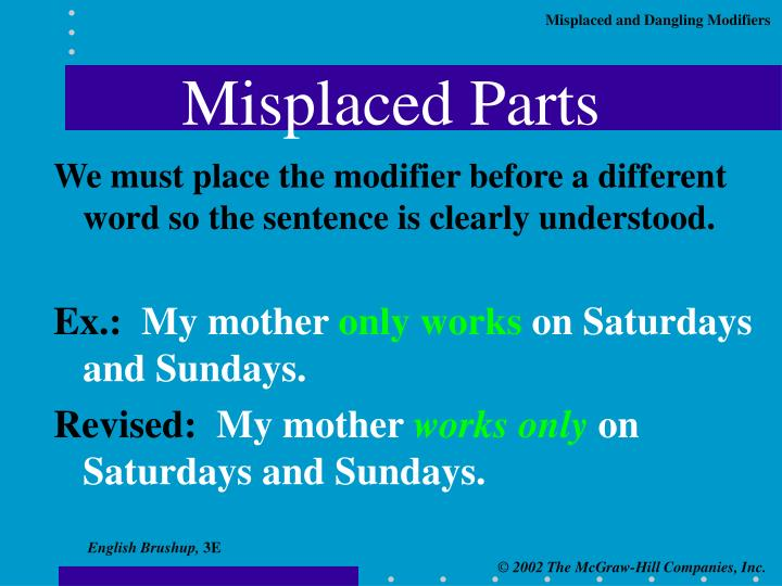 Misplaced Parts