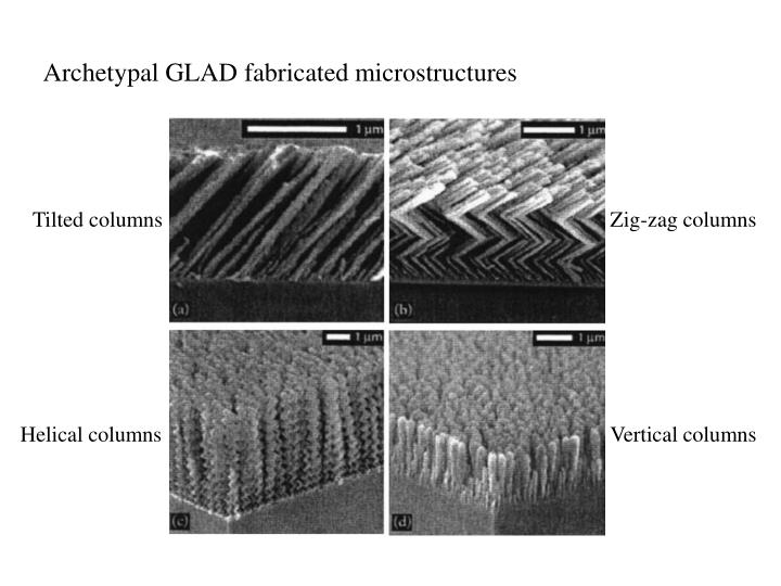 Archetypal GLAD fabricated microstructures