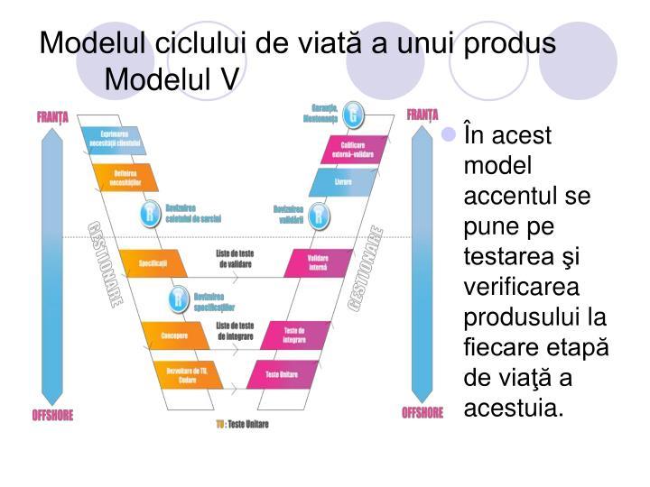 Modelul ciclului de viată a unui produs