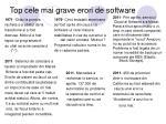 top c ele mai grave erori de software