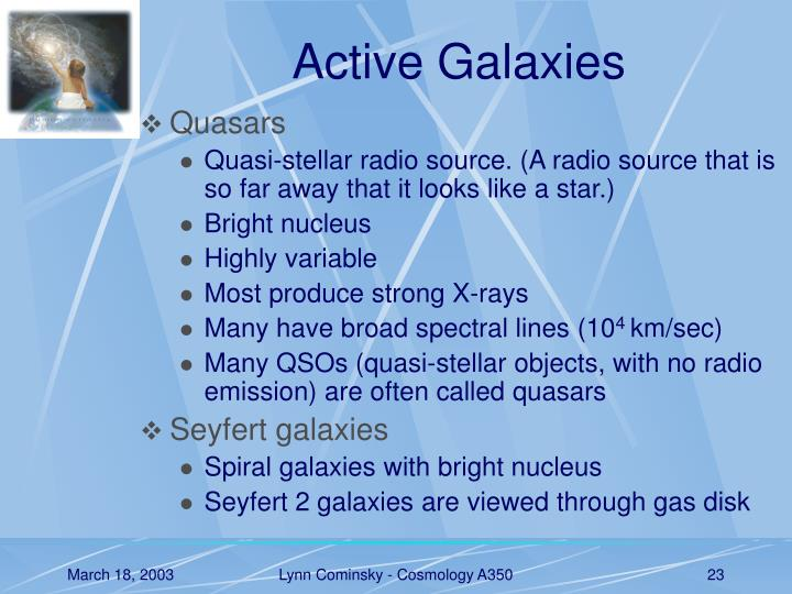 Active Galaxies