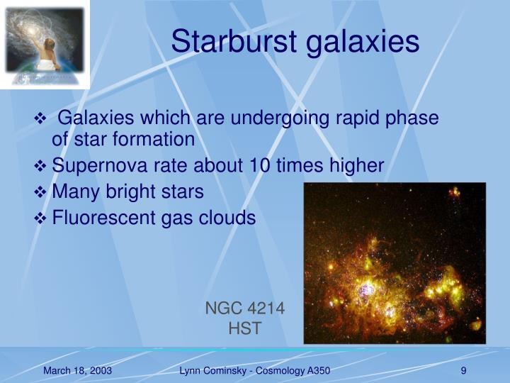 Starburst galaxies