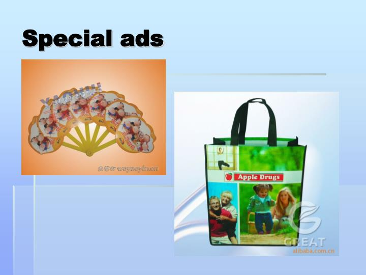 Special ads