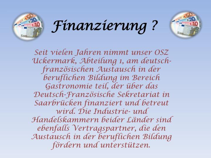 Finanzierung ?