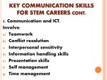 key communication skills for stem careers cont